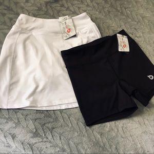Baleaf Black Athletic Short and Skirt